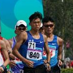 Men 20km-10km Team race - Leading group with Yu Wei (71-840) and Zgang Jun (34-1125)