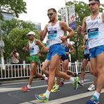 Men 50km: during the race