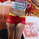 Women 50km: Julia Takacs celebrates bronze