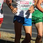 Men 50km: Andrea Agrusti during the race