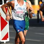 Men 50km: Marco de Luca during the race