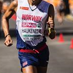Men 50km: Havard Haukenes during the race