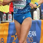 Women 20km: Valentina Trapletti during the race