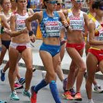 Women 20km: the women at the start
