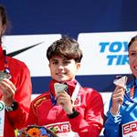 Women 20km: the podium