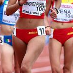10.000m women - Lidia Sanchez-Puebla leads the pack of followers