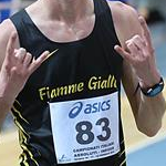 Men 5.000 indoor: Francesco Fortunato celebrates
