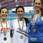 Women 3.000 indoor: the podium