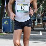 20km men: Quentin Rew (#18) during the race