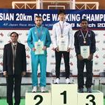 Asian 20km Race Walking Championships 2017: Men - Podium