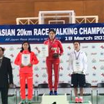 Asian 20km Race Walking Championships 2017: Women - Podium