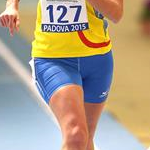 3.000m women: Federica Curiazzi during the race