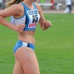 5.000m U18 Girls - Molly Jade Davey during the race (photo by Filippo Calore - Italy)