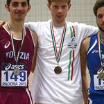 5.000m men: The podium with Massimo Stano, Leonardo Dei Tos, Federico Tontodonati.