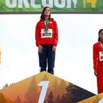 Women - Il podio della 10 km. donne (by Getty Images)