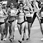 Women - 20 km - Second group (b/w - by Juan Ramilo POR)